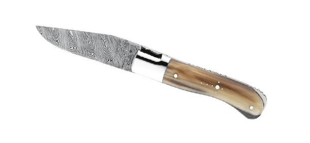 Couteau lame en acier damas